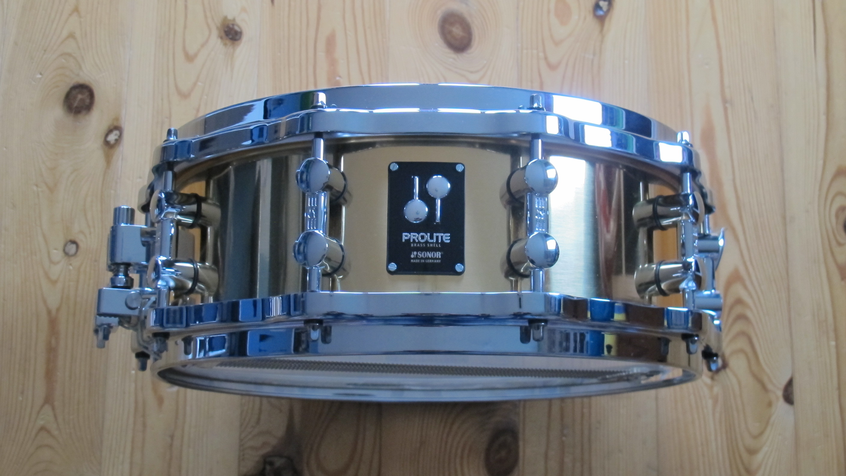 "Sonor ProLite Brass Snare PL12 1405 SDBD, 14""x5"", Die-Cast Hoops"