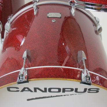 Canopus Yaiba II Groove kit Dark Red Sparkle Laquer