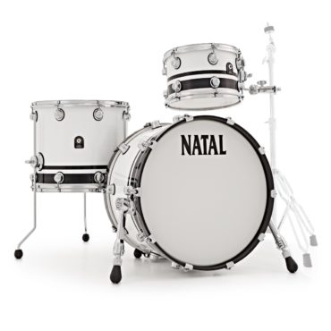 Natal Café Racer Traditional Jazz Black & White Split Fusion 20""