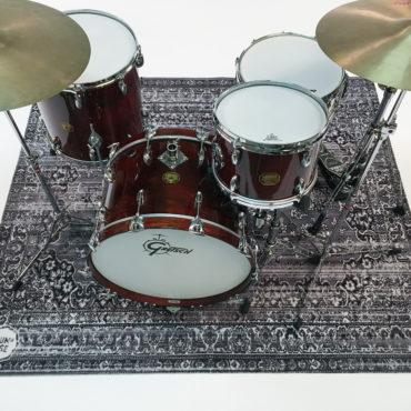 DRUMnBASE Vintage Persian Drum Mat Gray 1,85m x 1,6m