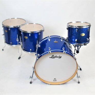 Ludwig Centennial Maple Moto 4 Piece Shellset Blue Sparkle